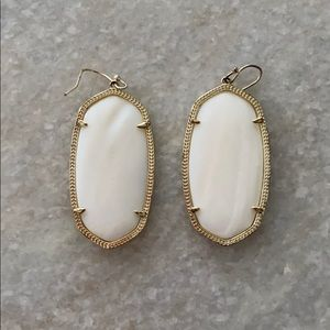 White Kendra Scott earrings